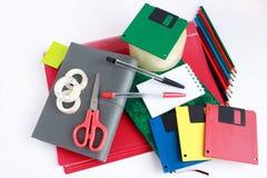 Set szkolny i biurowy materiały Obraz Royalty Free