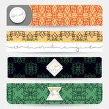 Set 4 sztandaru z geometrycznymi wzorami businnes Obraz Stock