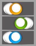 Set sztandary Fotografia Stock