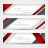 Set sztandary z linia papierem biznesowego projekta szablon Zdjęcie Royalty Free