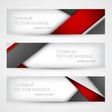 Set sztandary z linia papierem biznesowego projekta szablon Fotografia Royalty Free