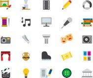 Set sztuki sieci powiązane płaskie ikony Fotografia Stock