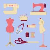 Set szwalne wektorowe ikony Obrazy Royalty Free