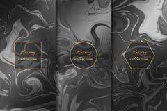 Set szyka marmuru tła ilustracja wektor