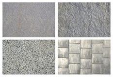 Set tło betonu i płytki podłoga Zdjęcie Royalty Free