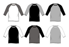 Set T-shirt Raglan. Vector image Royalty Free Stock Image