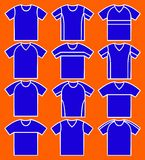 Set of the T-shirts. Vector Royalty Free Stock Images