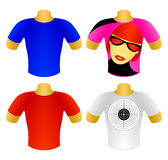 Set of T-shirts Royalty Free Stock Photos