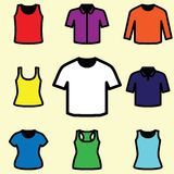 Set of t-shirts icon vector Stock Image