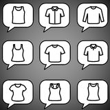 Set of t-shirts icon vector Stock Photography