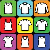 Set of t-shirts icon vector Stock Photos