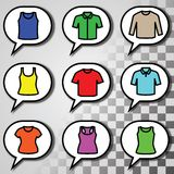 Set of t-shirts icon vector Stock Images