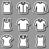 Set of t-shirts icon vector Royalty Free Stock Images