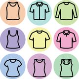 Set of t-shirts icon vector Royalty Free Stock Photos