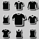 Set of t-shirts icon vector Royalty Free Stock Photo