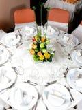set tabell för funktionsdeltagare Royaltyfria Bilder