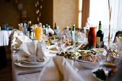 set tabell för händelsedeltagare Royaltyfri Fotografi