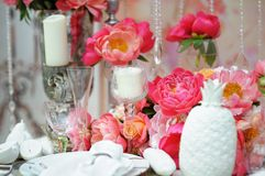 set tabell för händelsedeltagare Royaltyfria Foton