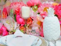 set tabell för händelsedeltagare Royaltyfria Bilder