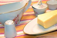set tabell för ost Arkivfoton