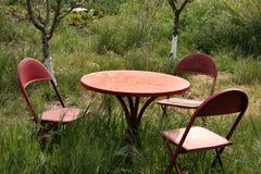 set tabell för trädgård Royaltyfri Bild