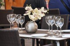 set table стоковое фото