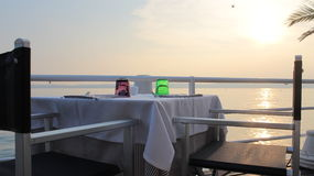 set table 免版税库存照片
