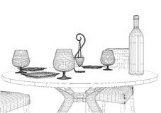 Set Table And Chairs Vector Stock Images
