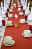 Set table in the dining room Stock Image