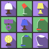 Set of table lamp icon. Royalty Free Stock Photo