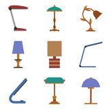 Set of table lamp icon. Stock Image