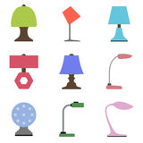 Set of table lamp icon. Royalty Free Stock Images