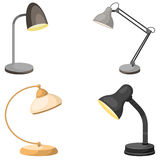 Set of table lamps Stock Images
