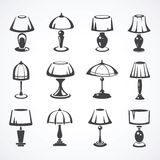 Set of table lamps Stock Photography