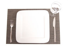 Set the table. Simple Table set on a placemat Stock Photography