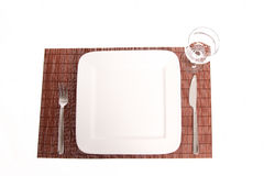 Set the table. Simple Table set on a placemat Stock Photos