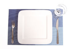 Set the table. Simple Table set on a placemat Royalty Free Stock Photos