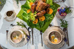Set table for Thanksgiving Royalty Free Stock Photography