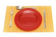 Set of table utensils Stock Photos