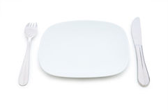Set of table utensils isolated Stock Image