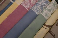Set of tablecloths Royalty Free Stock Photos