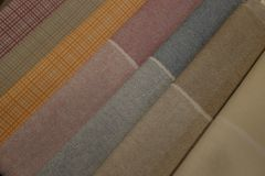 Set of tablecloths Stock Photo