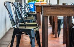 Restaurant`s Lunch Table Sets royalty free stock photos