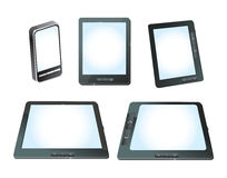 Set of  tablet computers Royalty Free Stock Photography
