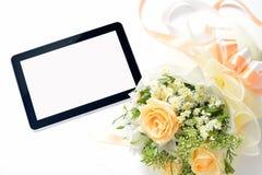 set tablet för datorsymbolsskärm Arkivfoto