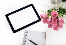 set tablet för datorsymbolsskärm Royaltyfria Bilder