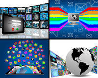 Set of tablet 10.06.13 Royalty Free Stock Image