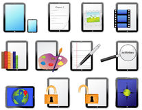 Tablet icons 1 Royalty Free Stock Image