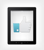 Set of Tablet PC royalty free illustration
