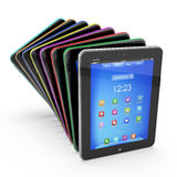 Set of Tablet PCs. Colored Stock Images